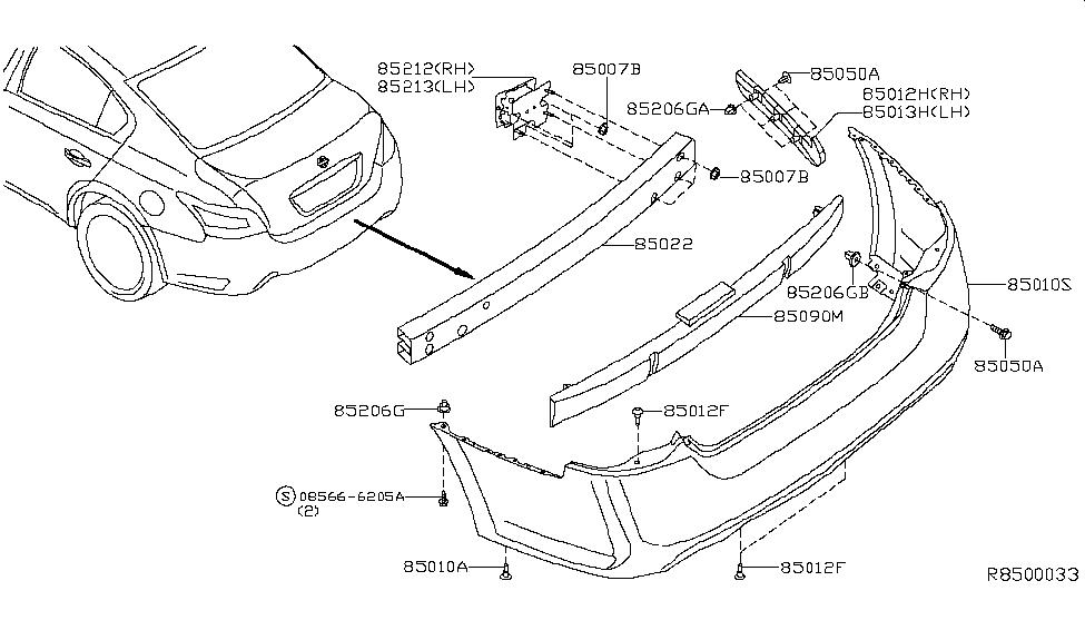 2013 Nissan Maxima Rear Bumper - Nissan Parts Deal