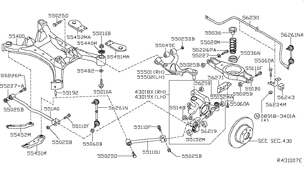 56243-9n10a | genuine nissan #562439n10a bush-rear stabilizer nissan chassis diagram