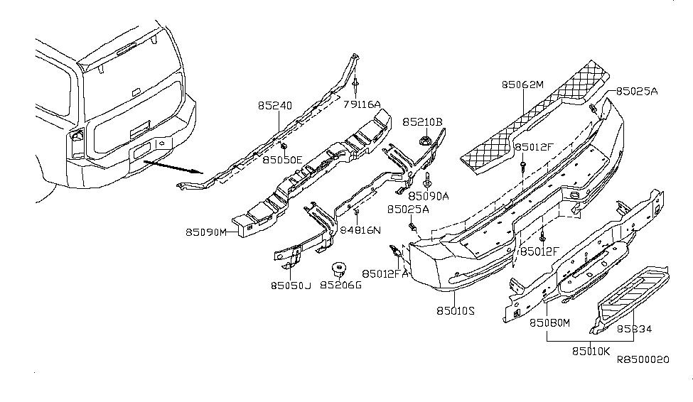 2012 Nissan Armada Rear Bumper - Nissan Parts Deal