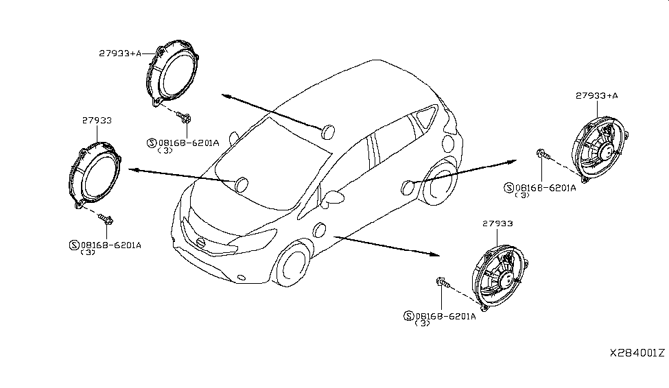 2019 Nissan Versa Note Speaker - Nissan Parts Deal