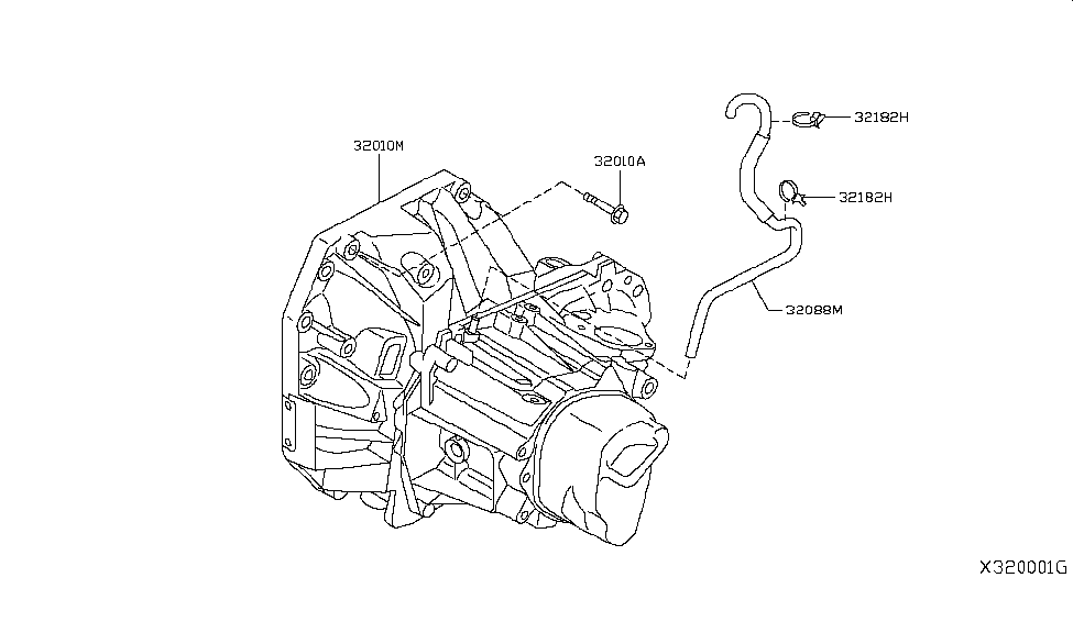 2015 Nissan Versa Note Manual Transmission  Transaxle