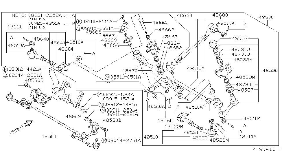 1989 nissan van steering linkage