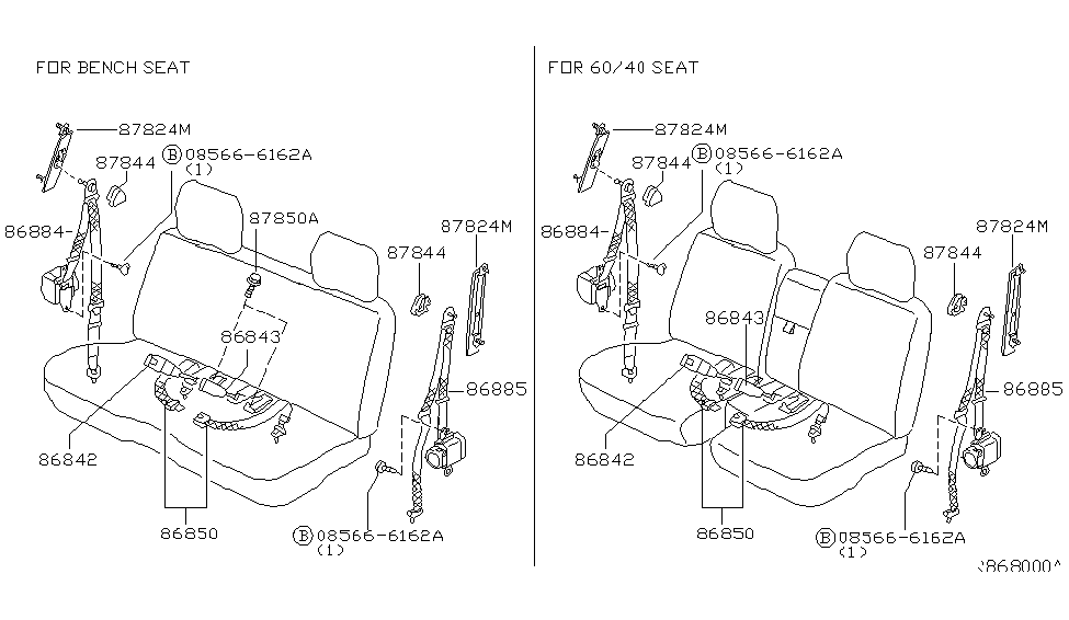 2003 Nissan Frontier Front Seat Belt - Nissan Parts Deal