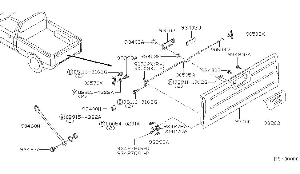 Wiring Diagram: 27 2000 Nissan Frontier Parts Diagram