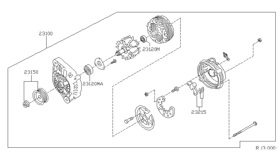 Excellent 23100 4S100 Genuine Nissan 231004S100 Alternator Assy Wiring Digital Resources Sulfshebarightsorg