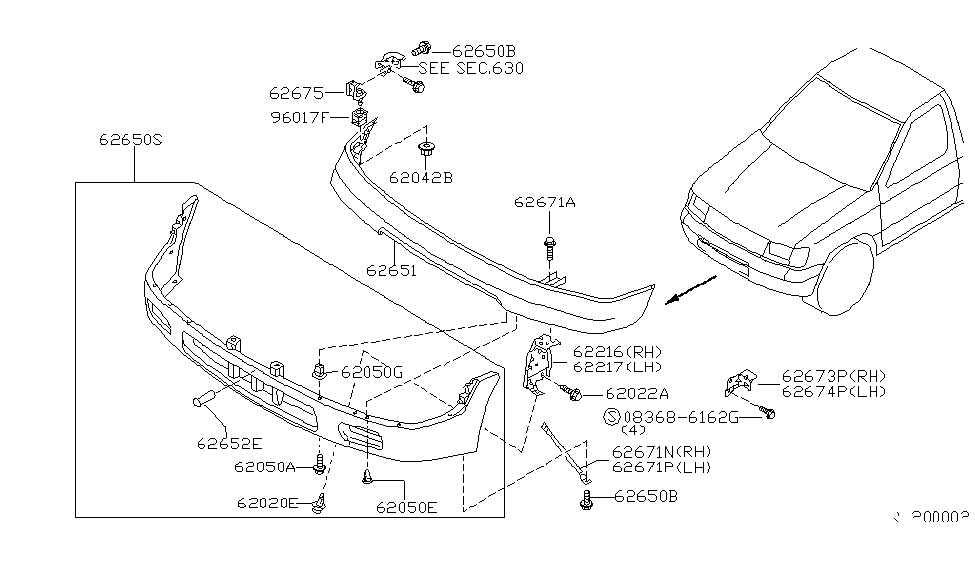 1998 nissan frontier front bumper nissan parts deal toyota tacoma parts diagram nissan frontier parts diagram wiring
