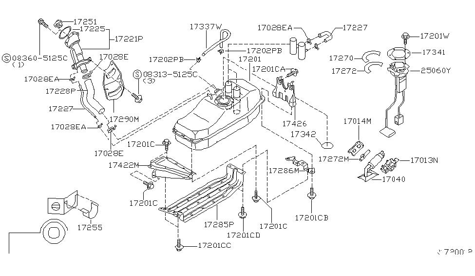2003 nissan frontier engine diagram