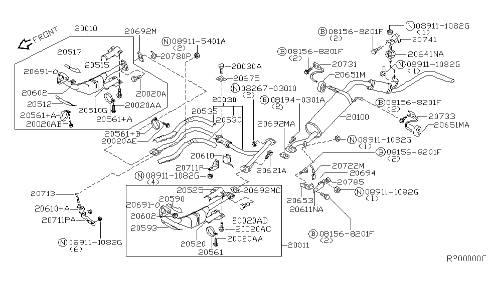 Genuine Nissan 20692-1E810 Exhaust Gasket