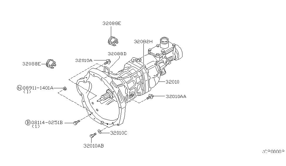 1999 nissan frontier manual transmission, transaxle \u0026 fitting toyota tacoma parts diagram 2000 nissan frontier parts diagram