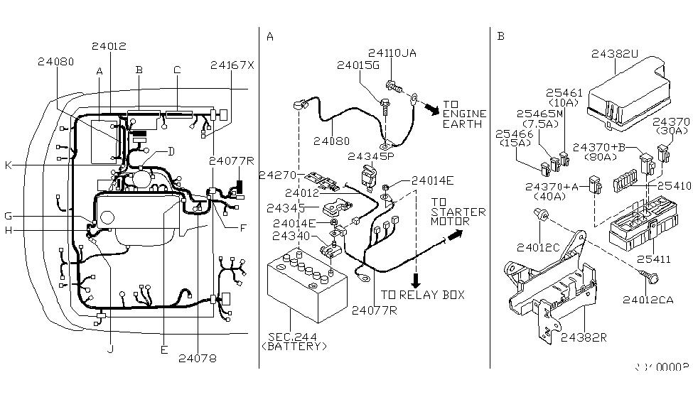 2000 Nissan Frontier Alternator Wiring Diagram