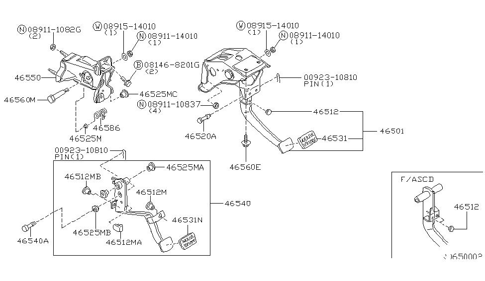 2000 Nissan Frontier Brake & Clutch Pedal - Nissan Parts Deal