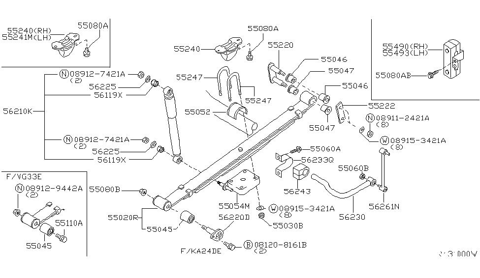 56230-7Z000 | Genuine Nissan #562307Z000 STABILIZER-REAR