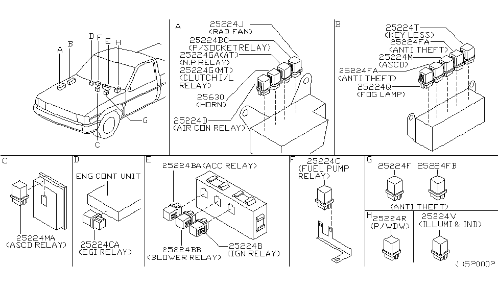 1998 nissan frontier relay nissan parts deal 2002 Nissan Frontier Parts Diagram