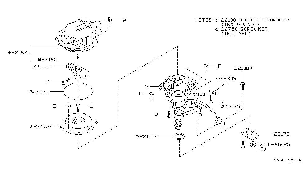 1986 nissan maxima distributor & ignition timing sensor 2004 maxima outside mirror diagram nissan maxima engine diagram of 1986 #40