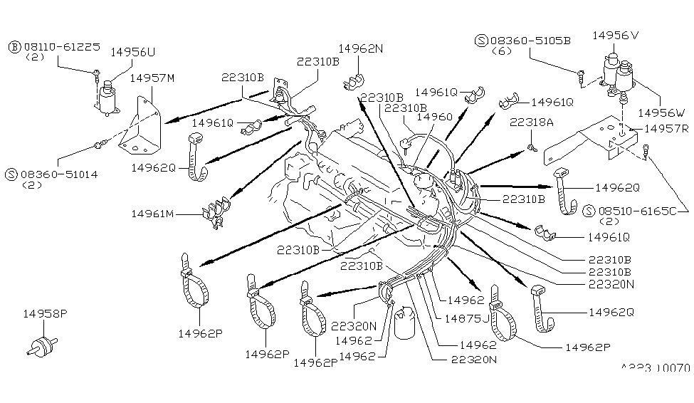1988 Nissan Maxima Engine Control Vacuum PipingGenuine Nissan Parts