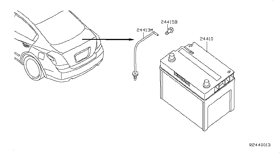 2009 Nissan Altima Hybrid Battery  U0026 Battery Mounting