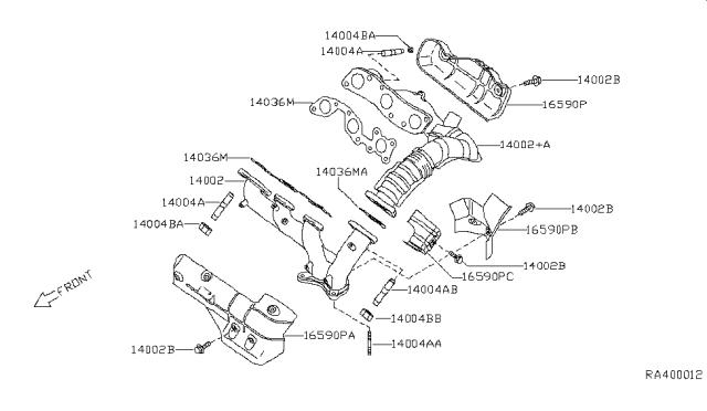 [EQHS_1162]  1999 Nissan Quest Manifold - Nissan Parts Deal | 1999 Nissan Quest Engine Diagram |  | Genuine Nissan Parts