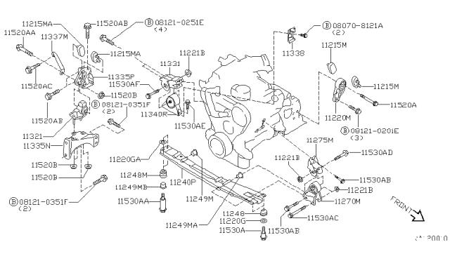[FPER_4992]  11270-7B000 - Genuine Nissan Parts | 1999 Nissan Quest Engine Diagram |  | Genuine Nissan Parts
