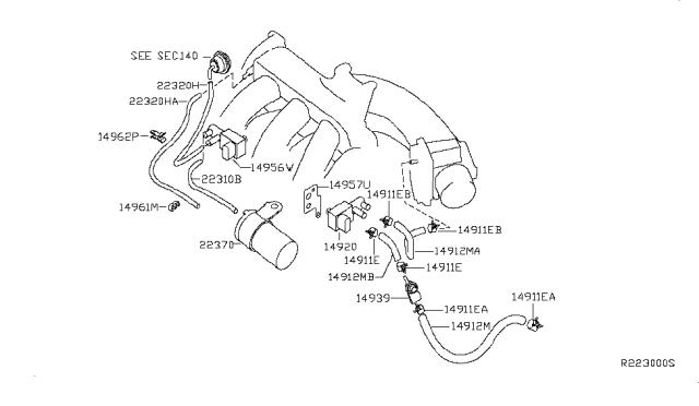 2003 Nissan Altima Engine Control Vacuum Piping