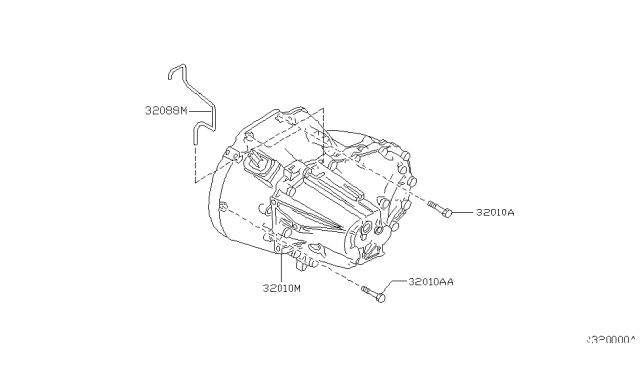 2002 Nissan Altima Manual Transmission Transaxle Fitting