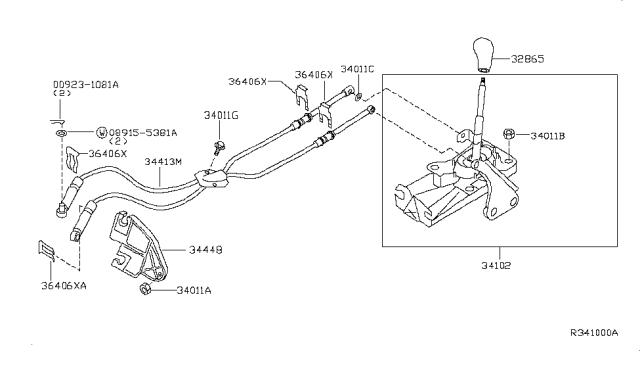2002 Nissan Altima Transmission Control Linkage