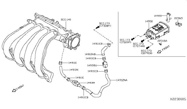 2010 Nissan Versa Hatchback Engine Control Vacuum PipingNissan Parts