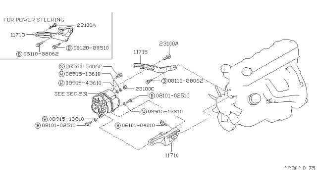 1989 Nissan Pathfinder Alternator Fitting Nissan Parts Deal