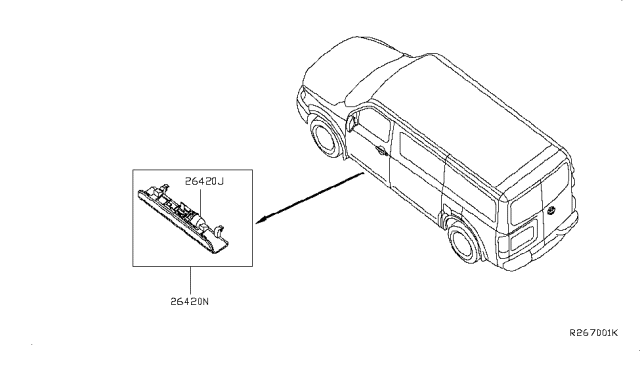 2013 Nissan NV Lamps (Others) Diagram