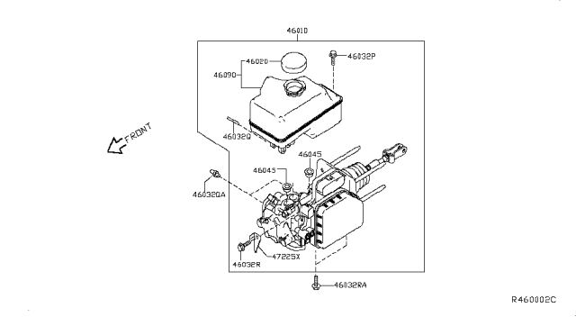 2013 Nissan NV Brake Master Cylinder Diagram