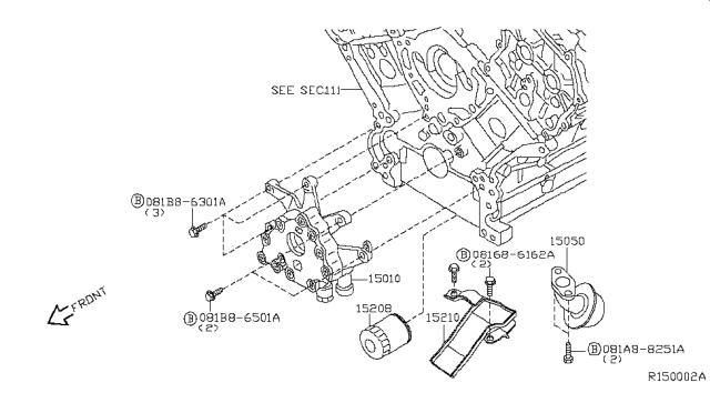 Genuine Nissan OEM 15010-EA20A ASSY OIL PUMP 15010EA20A