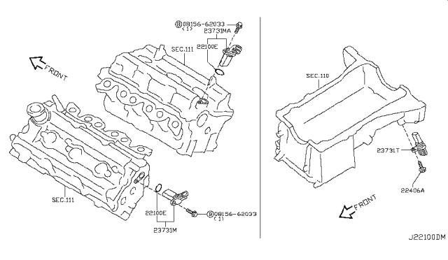 2006 Nissan 350z Distributor Ignition Timing Sensor