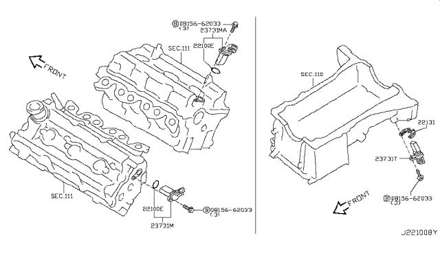 [SCHEMATICS_48IU]  2003 Nissan 350Z Distributor & Ignition Timing Sensor | 03 350z Engine Electrical Parts Diagram |  | Genuine Nissan Parts