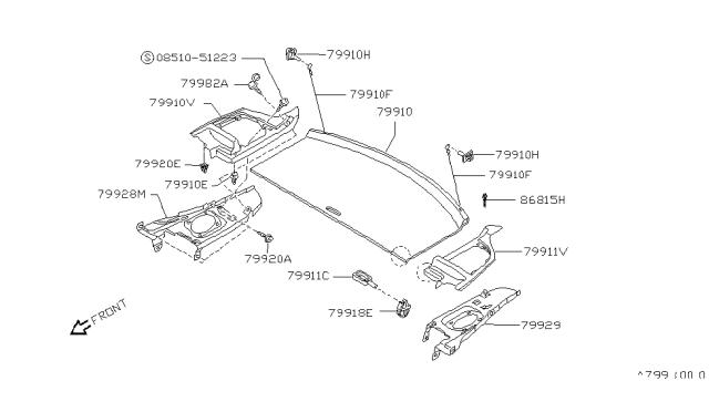 Genuine Nissan Holder Rear 79915-M8201