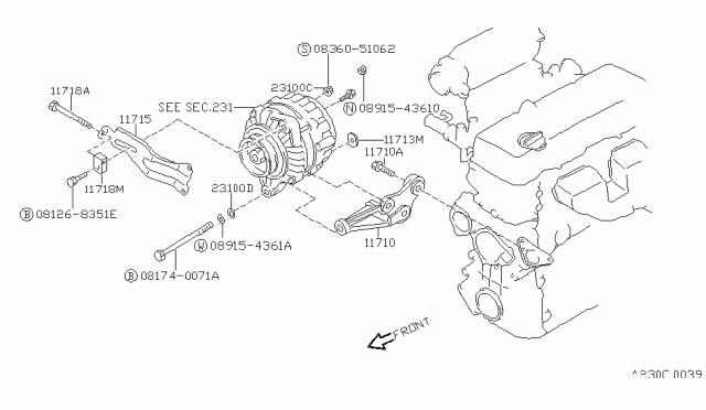 1993 Nissan 240SX Alternator Fitting - Nissan Parts Deal