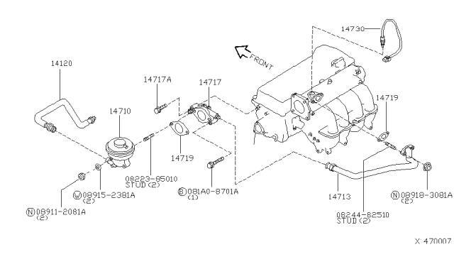 Nissan Sentra 2001 Gxe Engine Diagram
