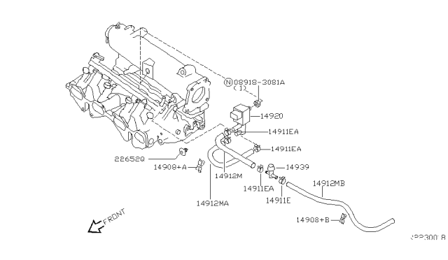 [NRIO_4796]   2002 Nissan Sentra Engine Control Vacuum Piping | 02 Sentra Engine Diagram |  | Genuine Nissan Parts