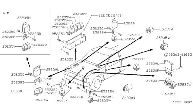1987 Nissan Hardbody Pickup (D21) Relay - Nissan Parts DealNissan Parts
