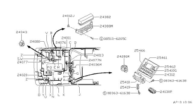 wiring - 1993 nissan hardbody pickup (d21)  nissan parts deal