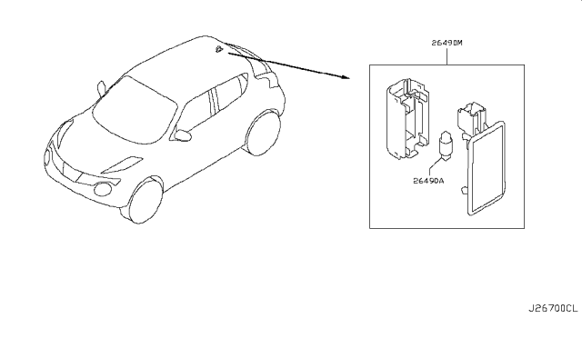 2017 Nissan Juke Lamps (Others) Diagram