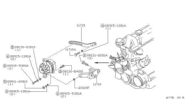 1984 Nissan 720 Pickup Alternator Fitting Nissan Parts Deal