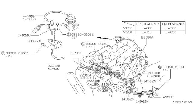 [SCHEMATICS_48IU]  1986 Nissan 300ZX Engine Control Vacuum Piping | 1986 300zx Engine Wiring Diagram |  | Genuine Nissan Parts