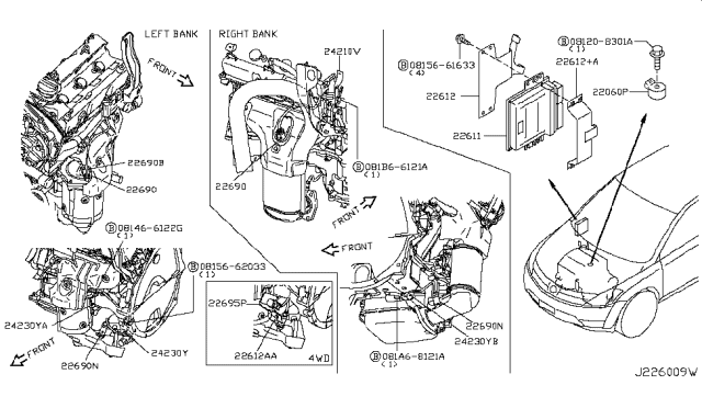 2004 Nissan Murano Engine Control Module - Nissan Parts DealGenuine Nissan Parts