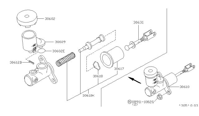 1997 Nissan Pathfinder Clutch Master Cylinder Nissan Parts Deal