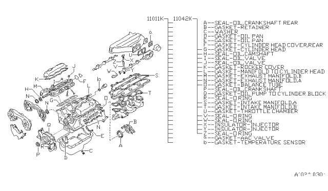 2002 Nissan Pathfinder Engine Gasket Kit Nissan Parts Deal