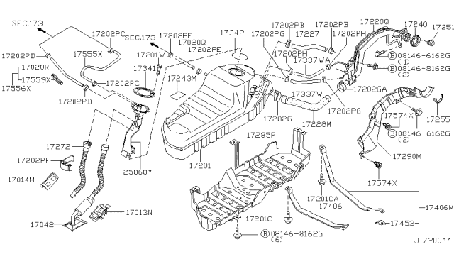 2001 Nissan Pathfinder Fuel Tank Nissan Parts Deal