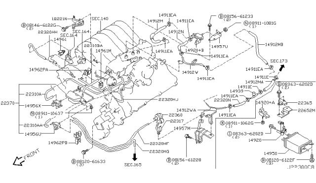 2002 nissan pathfinder engine control vacuum piping 2002 nissan pathfinder engine control