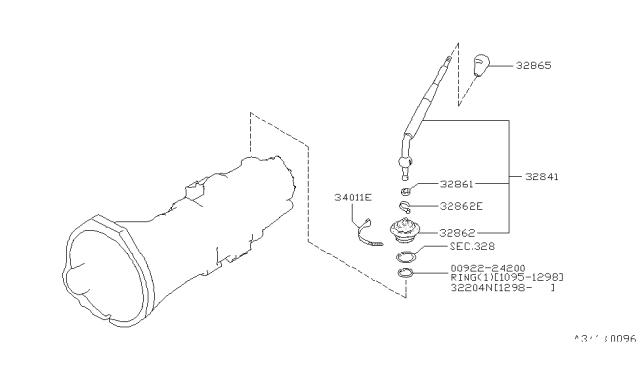 1997 Nissan Pathfinder Transmission Control Linkage