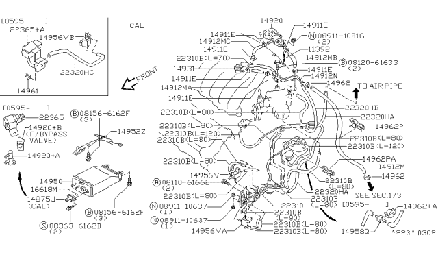[DIAGRAM_1JK]  1996 Nissan Maxima Engine Control Vacuum Piping | 96 Nissan Maxima Engine Diagram |  | Nissan Parts