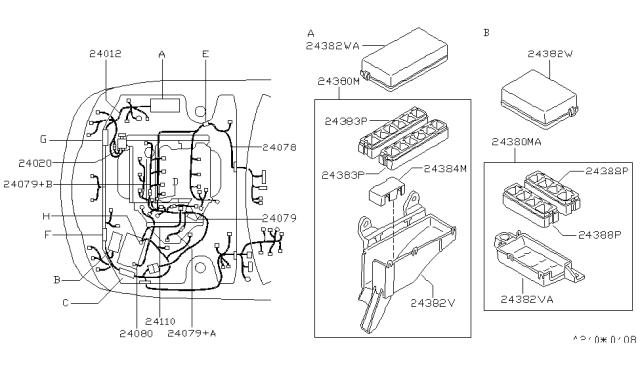 Wiring - 1998 Nissan Maxima | 1998 Nissan Maxima Alternator Wiring |  | Nissan Parts