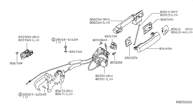 80671 7s000 Genuine Nissan Parts